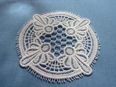 Lace Doily Coaster by WillowbendCottage on Etsy