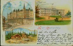 Christiania Kristiania Hilsen fra..... Tysk prod. Eneret R.A. stemplet 1910