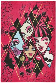 Monster High Abbey Bominable Cleo de Nile Frankie Draculaura Kinderteppich Teppich Kinderteppich Kinder Teppich Spielteppich darf in keinem Kinderzimmer fehlen 95 x 133 cm von Bavaria Home Style Collection, http://www.amazon.de/dp/B00JFXNJBU/ref=cm_sw_r_pi_dp_umwptb1BR77KD