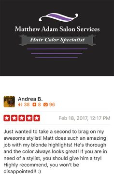 Reviews for Dallas Best Hair Color Specialist.  Matthew Adam Salon Services Best Hair Color Salon in Dallas;Best Ombre; Best platinum hair color in Dallas; Best hair color salon 2017 Ombre; Sombre; Balayage; Highlights; Hair color; Partial highlights; blonde hair; silver hair; ash; hair salon; hair; ashy hair color; Addison; Farmers Branch; Plano; Valley Ranch; Irving; Vitruvian; Mercer Crossing; Carrollton; DFW Hair; Addison; TXhair Highlights; Balayage; Foilayage; Color Melt;