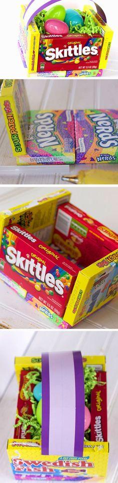 Basket Made of Candy   Easy DIY Easter Basket Ideas for Kids