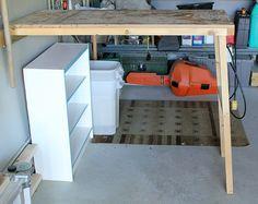 DIY fold-up worktable