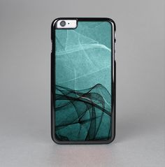 THE ABSTRACT TEAL AND BLACK CURVES SKIN-SERT CASE FOR THE APPLE IPHONE 6