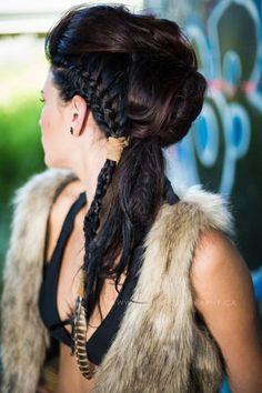 Summer 2014 Hair Looks - Guelph, Ontario, Canada - Hair Salon - Bodh Salon - updos - summer hair -fall hair- black hair - summer updo - wedding hair/ updo - modern hairstyles - vintage hairstyles -braids -hair -hair tattooing. Modern Hairstyles, Vintage Hairstyles, Summer Hairstyles, Braided Hairstyles, Wedding Hairstyles, Cool Hairstyles, Natural Hairstyles, Viking Hair, Viking Braids