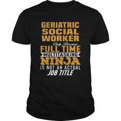 I Love Geriatric Social Worker Shirts & Tees