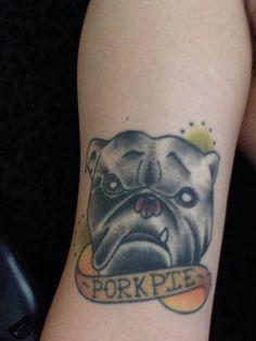 #tattoo of my boi #porkpie he's my #bulldog