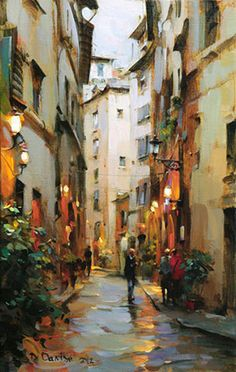 "Dmitri Danish Original Oil ""After the Rain Florence"" - Featured Artist - Vinings Gallery Urban Landscape, Landscape Art, Landscape Paintings, City Art, Art Watercolor, Italy Painting, Rain Painting, Great Paintings, Oil Paintings"