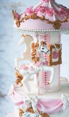 Carousel Cake Detail