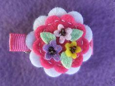 felt flower clip pie