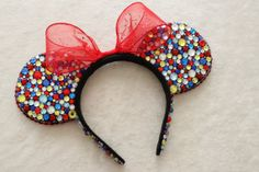Snow White Inspired Rhinestone Minnie Mouse Ears