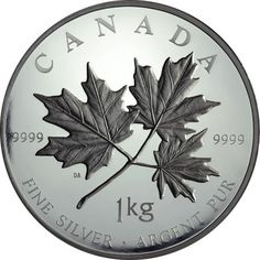 250 Dollar Silber Maple Leaf Forever - 1 Kilo UN