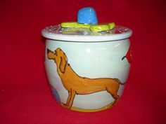 Vizsla Dog Treat Jar - $5.00 off your order of $30.00 or more with coupon code:MOM.
