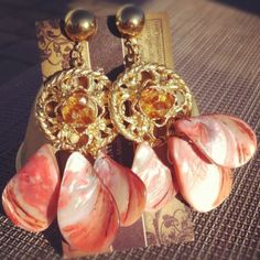 Shell Chandelier Earrings - Pantomime Lion Jewelry@facebook.com