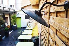 Dents de Loup Restaurant Dijon Design intérieur scandinave brunch ping pong nordic elitis garden terace