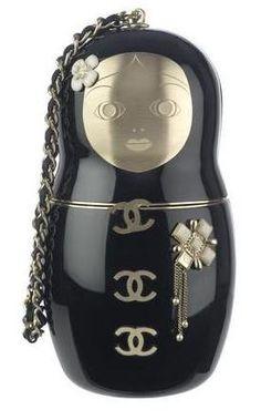 Chanel russian doll bag.  I need to get my hands on this Coco Chanel, Chanel 2015, Chanel Clutch, Chanel Handbags, Best Handbags, Chanel Bags, Designer Handbags, Handbags Online, Purses Online