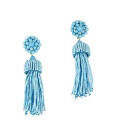 Design Darling home decor & monogrammed gifts — Turquoise Tassel Earrings