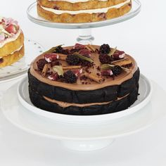 Recipe: Dark Chocolate, Mulled Wine and Blackberry Cake — The Caker Dark Chocolate Orange, Dark Chocolate Cakes, Melting Chocolate, Dairy Free Spread, Light Olive Oil, Blackberry Cake, Chocolate Buttons, Dried Oranges, Dairy Free Milk
