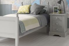 Fargo Single bed - Farleigh Grey | Child's grey full size single bed | Little Folks Furniture Kids Bedroom, Bedrooms, Traditional, Grey, Furniture, Home Decor, Gray, Decoration Home, Room Decor