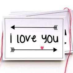 Ansichtkaart uit de webshop: I love you. Leuk voor Valentijn!