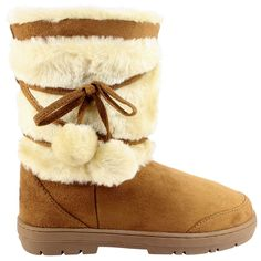 Womens Fur Lined Thick Sole Winter Snow Bobble Boots >>> Want to know more, click on the image.