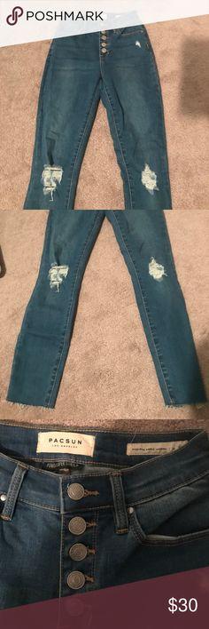Pacsun High Waisted Denim pacsun high waisted jeans; size 23; worn twice like brand new PacSun Pants Skinny