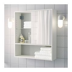 FULLEN Dulap oglindă, alb - alb - IKEA