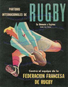 Rugby France vs Argentina   Poster  Program  Programme