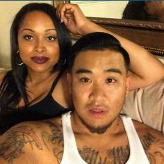 Beautiful interracial couple #love #ambw #bwam #blasian