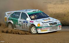The Acropolis Rally, Greece. Toni Gardemeister and Paavo Lukander in the Skoda Octavia WRC EVO 3 during the shakedown May