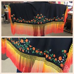 New 2 yard embroidered shawl with tied, beaded and the dyed fringes $550.00 Native American Regalia, Native American Beauty, Tunic Sewing Patterns, Shawl Patterns, Cute Fashion, Modest Fashion, Fashion Tips, Fancy Shawl Regalia, Jingle Dress