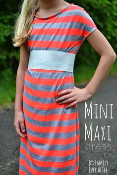 Family Ever After....: Sewing Tutorial: Mini Maxi Dress