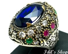 Ring Bague Anillo Turkish Ottoman Style Jewelry 925 by IdilsShop