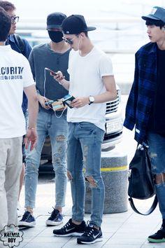140816- EXO Oh Sehun ft. Kai (Kim Jongin) @ Incheon Airport to Nanjing Airport