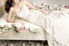 Wedding Dress Photos - Find the perfect wedding dress pictures and wedding gown photos at WeddingWire. Browse through thousands of photos of wedding dresses. Strapless Lace Wedding Dress, Bridal Dresses, Lace Gowns, Lace Dresses, Dress Lace, Bridal Lace, Lace Bride, Strapless Gown, White Dress