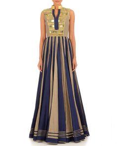 Blue color Long Anarkali dress