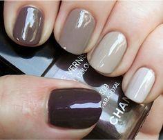 "fashion forward ""tonal"" nails"