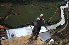 Terrifying See-Through Sleeping Capsules Hang 400 Feet Above Peru's Sacred Valley