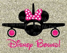 KELLY!  Disney Bound Vacation Minnie Mouse Plane Cutting File in Svg, Eps, Dxf, and Jpeg for Cricut and Silhouette