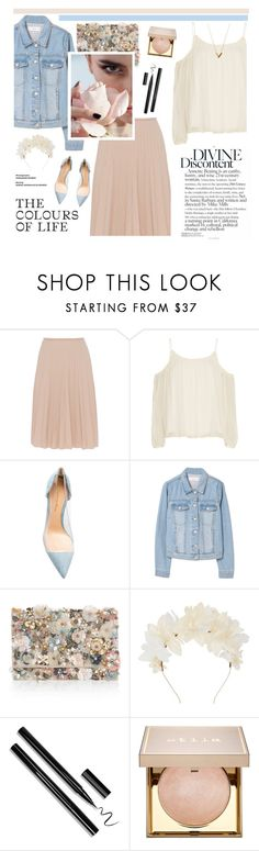 """#422"" by blacksky000 ❤ liked on Polyvore featuring Piazza Sempione, Elizabeth and James, Gianvito Rossi, MANGO, Accessorize, Lizzie Fortunato, Stila and Louis Vuitton"