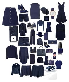 """""""Navy"""" by charleymeikle on Polyvore featuring Topshop, Kate Spade, Samsøe & Samsøe, CHARLES & KEITH, Barbour, Mason by Michelle Mason, Chloé, Miss Selfridge, Converse and Dr. Martens"""
