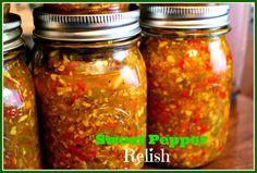 Sweet Tea and Cornbread: Sweet Pepper Relish!