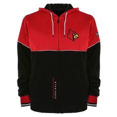 Men's Franchise Club Louisville Cardinals Shield Reversible Hooded Jacket, Size: Medium, Red