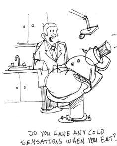 Snowman visits dentist