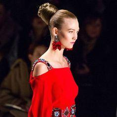 The Very Best Beauty Looks From Day 5 of Fall-Winter 2014 New York Fashion Week: The bold buns created by Orlando Pita with BioSilk at Carolina Herrera