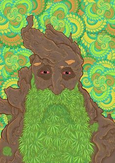 get a guy with a long beard like this and have weed graphically put in his beard for a shirt idea. Marijuana Art, Cannabis, Psychedelic Art, Best Beard Oil, Stoner Art, Weed Art, Ganja, Trippy, Cool Art