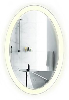 round led lighted wall mount vanity bathroom mirror sol