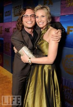 Two for one: Matthew Gray Gubler AND Jane Lynch! Matthew Gray Gubler, actor, visual artist and director. Jane Lynch, actor.