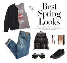 """""""Untitled #8"""" by brandonaddict on Polyvore featuring Billabong, Monki, American Eagle Outfitters, H&M, Yves Saint Laurent, Converse, Georgini and Spring"""