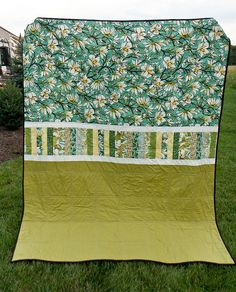 Quilt back-I tend to do this because I run out if fabric when I'm making a scrappy quilt. Frugal=pretty!