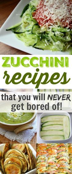 Zucchini recipes that will keep you from getting bored throughout your garden's entire zucchini season! Diet Recipes, Vegetarian Recipes, Cooking Recipes, Healthy Recipes, Healthy Cooking, Healthy Eating, Cocina Light, Snacks, Gastronomia